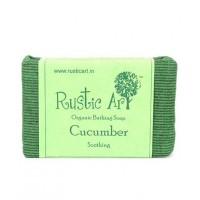 Rustic Art Organic Cucumber Soap - 100 GMS