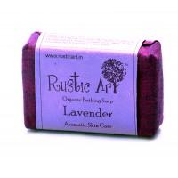 Rustic Art Organic Lavender Soap - 100 GMS