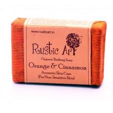 Rustic Art Orange & Cinnamon Soap - 100 GMS