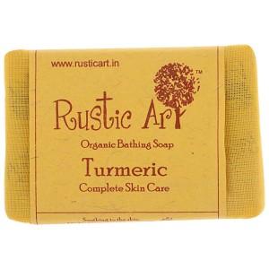 Rustic Art Organic Turmeric Soap - 100 GMS