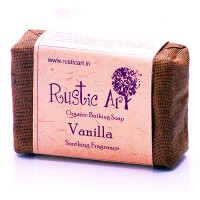 Rustic Art Organic Vanilla Soap - 100 GMS