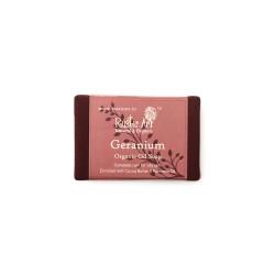 Rustic Art Organic Geranium Soap - 100 GMS