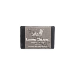 Rustic Art Organic Lemon Charcoal Soap - 100 GMS