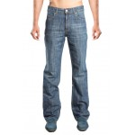 Organic Denim Jeans  Relaxed Fit (Whiskers) - For Men