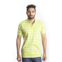 Zeme Organics Yarn Dyed  Stripes T-Shirt with Collar - For Men