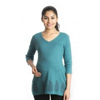 Zeme Organics Maternity Top - Green