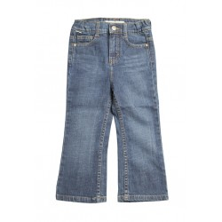 Zeme Organics Denim Jeans  Relaxed Fit Boot Cut (Whiskers Wash) - For Kids