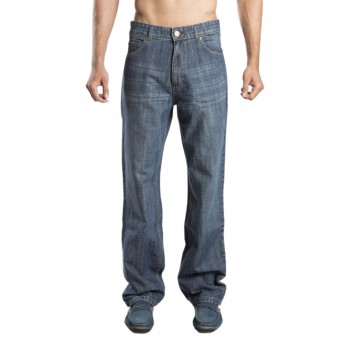 Zeme Organics Denim Jeans Relaxed Fit (Whiskers) - For Men